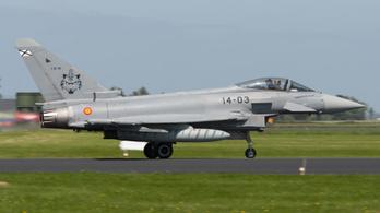Egy spanyol vadászgép véletlenül kilőtt egy rakétát Észtország felett