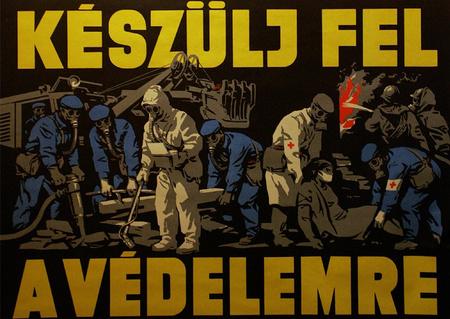 Polgári védelmi plakátok a hatvanas-hetvenes évekből