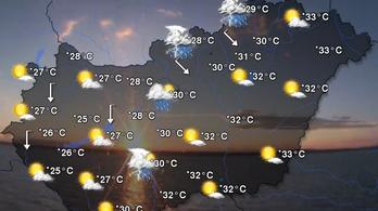 Hétvégén gyenge hidegfront érkezik