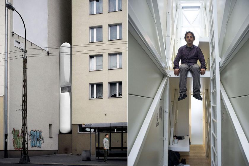 Ez a lengyel ház a legkeskenyebb a világon - 1 méter széles az egész