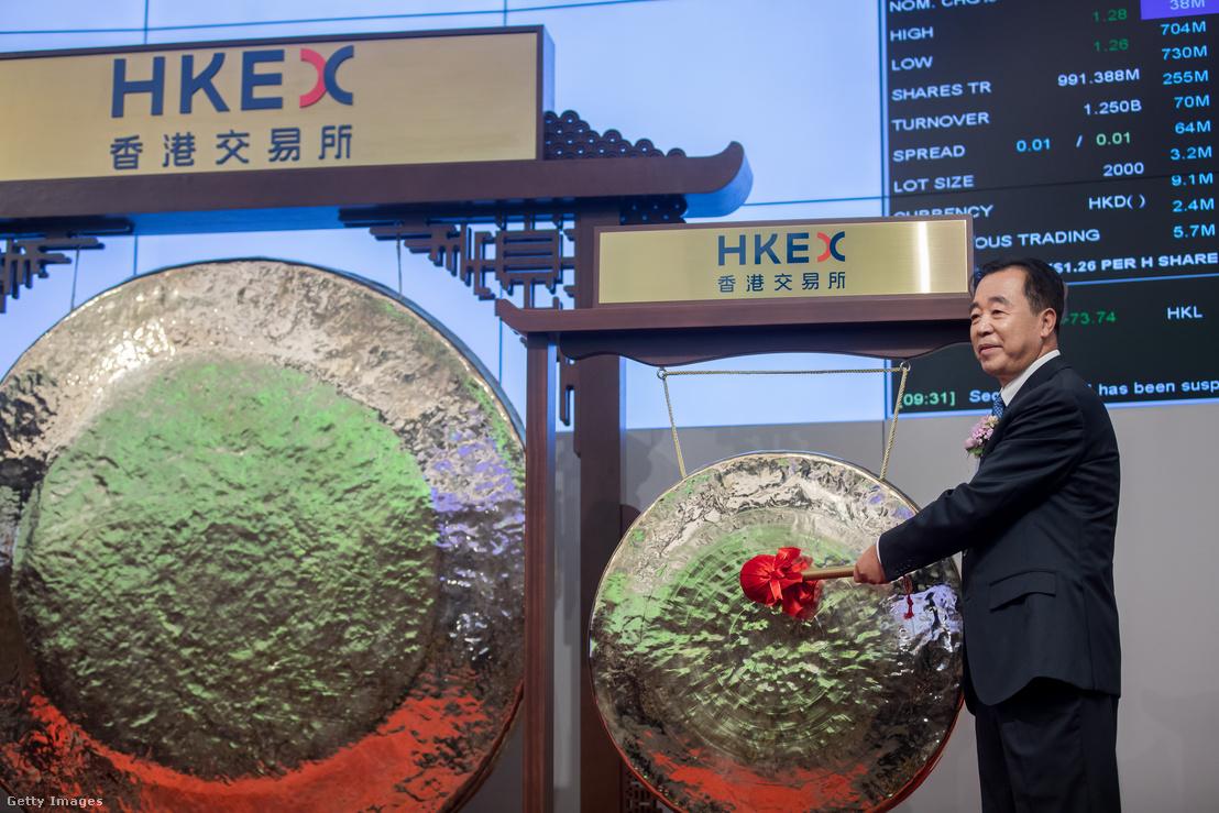 A China Tower Co. vezetője a tőzsdére lépés napján.