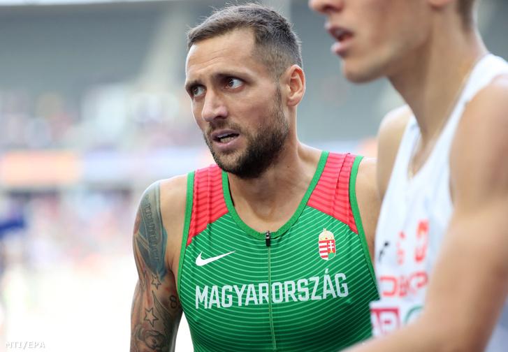 Kazi Tamás a férfi 800 méteres síkfutásának előfutamában a berlini atlétikai Európa-bajnokságon 2018. augusztus 9-én.