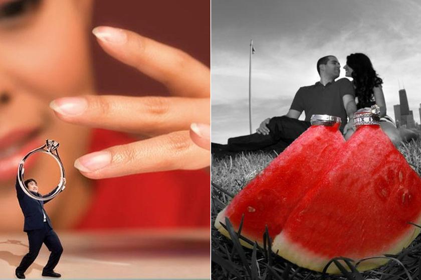 A világ legkínosabb eljegyzési fotóira nincsenek szavak - Mégis, mit gondoltak ezek a párok?