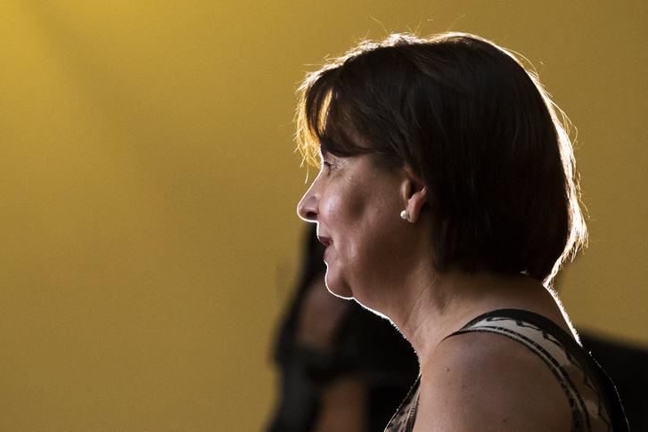 Varga-Damm Andrea a Jobbik országgyűlési képviselője sajtótájékoztatót tart 2018. július 31-én.
