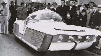 A tér és idő autója, ahogy az ötvenes években elképzelték