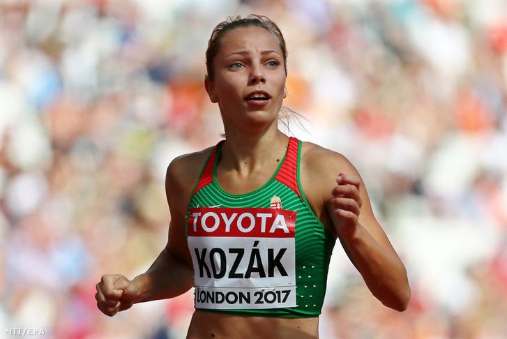Kozák Luca versenyez a nõi 100 méter gátfutás selejtezõjében a 16. szabadtéri atlétikai világbajnokságon a London Stadionban 2017. augusztus 11-én.