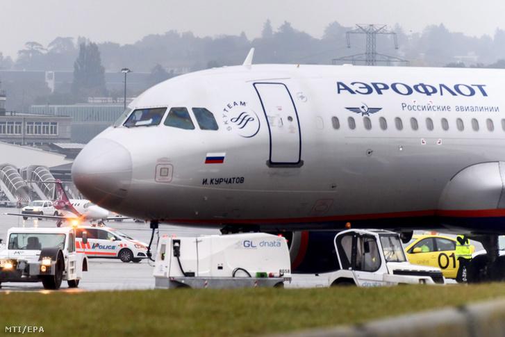 Az Aeroflot orosz légitársaság egyik Airbus A320-214 típusú utasszállító repülőgépe