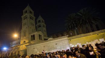Kopt keresztények elleni öngyilkos merényletet hiúsítottak meg Egyiptomban