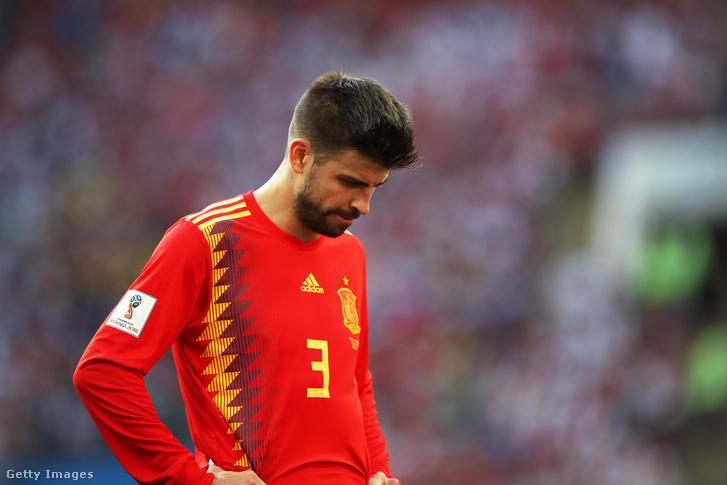 Piqué az oroszok elleni vesztes vb-nyolcaddöntő után a 2018-as világbajnokságon