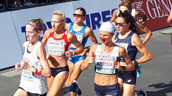 A vérző orra sem tudta megállítani Mazuronakot, megnyerte a női maratonfutást