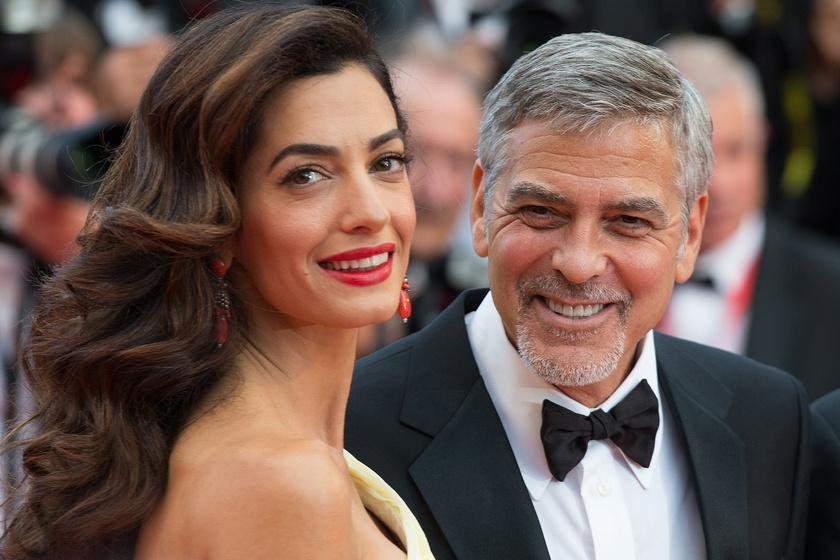 Amal Clooney sárga estélyiben tündökölt - Férje le sem bírta venni róla a szemét