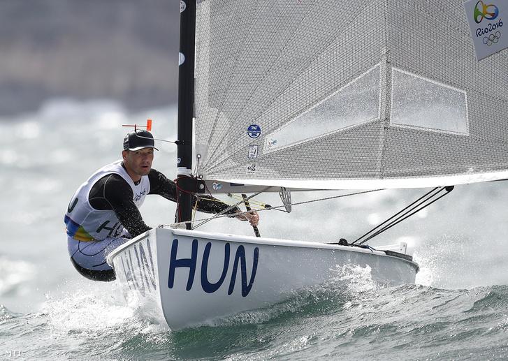 Berecz Zsombor a riói nyári olimpia férfi vitorlásversenyén 2016-ban.