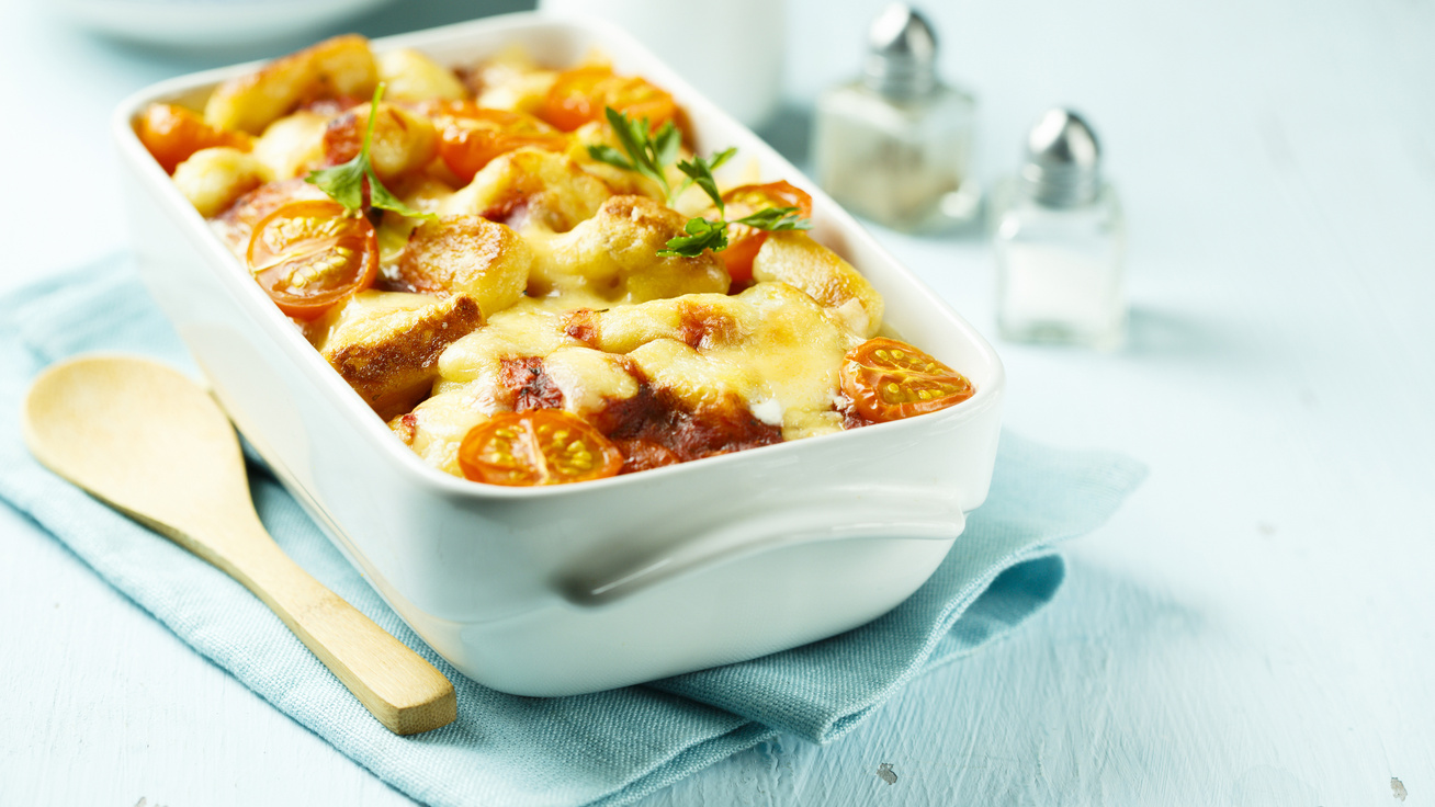 Készítsd úgy, mint az olaszok: paradicsomos gnocchi sütőben sütve, sok sajttal