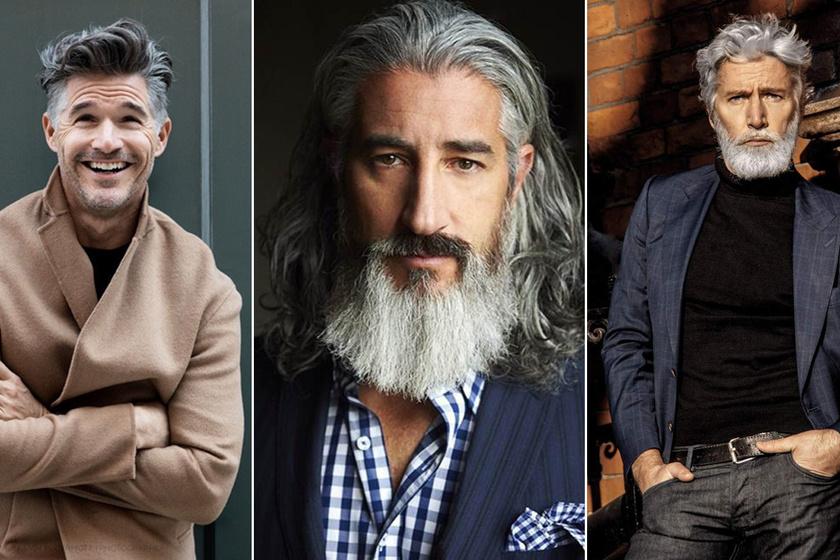 Ősz hajjal és szakállal is őrülten szexik - 50 feletti férfi modellek, akikért megőrülnek a nők