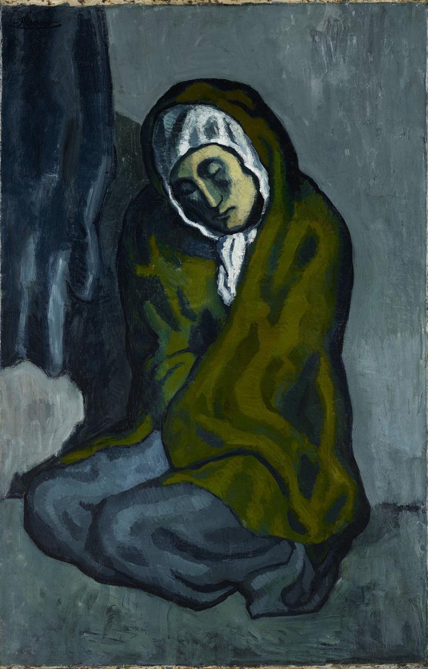 Röntgenvizsgálat során kiderült, hogy a festmény, ha elfordítjuk, egy, az új festékrétegtől láthatatlanná vált tájképet rejt.