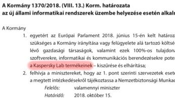 Magyarországról is kitilthatják a Kasperskyt