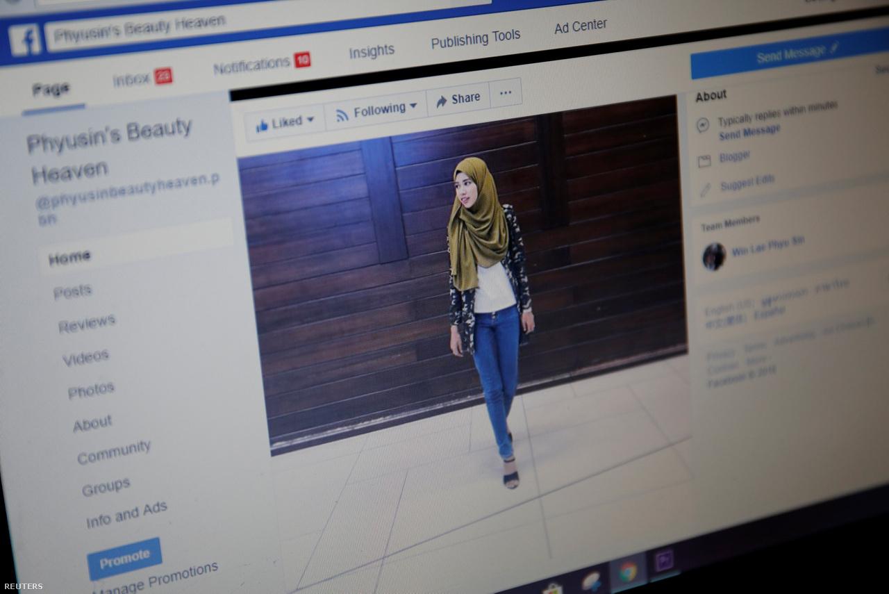 A szélsőségesen nehéz politikai helyzetben Vin Le Fju Szin muszlim hidzsábban ad szépségtippeket több mint 6000 Facebook-követőjének, és sok száz mianmari nőnek tart rendszeresen sminkkurzusokat.