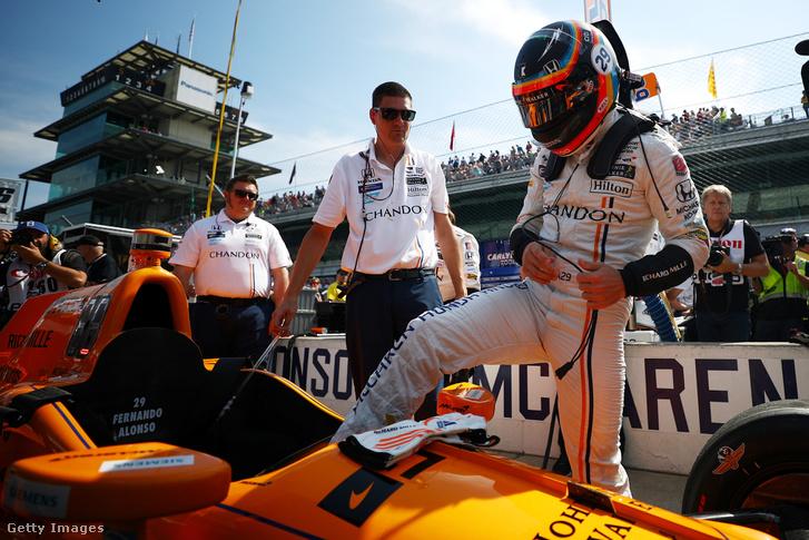 Fernando Alonso a 2017-es Indy 500 előtt