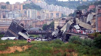 Leszakadt egy viadukt Olaszországban, harmincnál is többen haltak meg