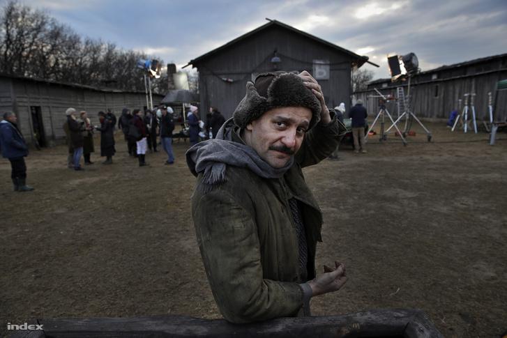 Csányi Sándor színész az Örök tél című film forgatásán