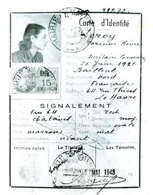 Violette hamis francia személyazonosítója