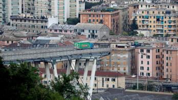 Sokkhatás alatt van a leomlott genovai híd előtt pár méterre megálló kamionos