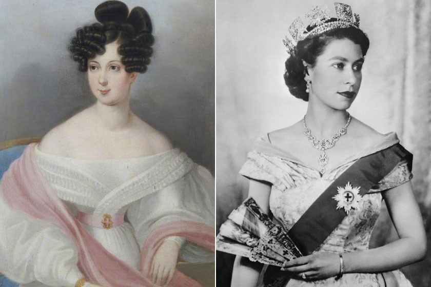 Rhédey Klaudia grófnő és ükunokája, a fiatal II. Erzsébet királynő.
