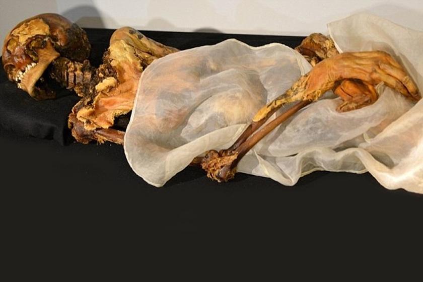 A szibériai nő 2500 éves múmiája: keze is hihetetlen épségben maradt meg.