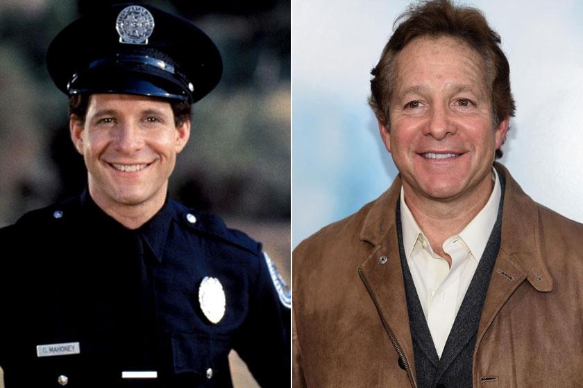 Steve Guttenberg a Rendőrakadémiában és napjainkban.