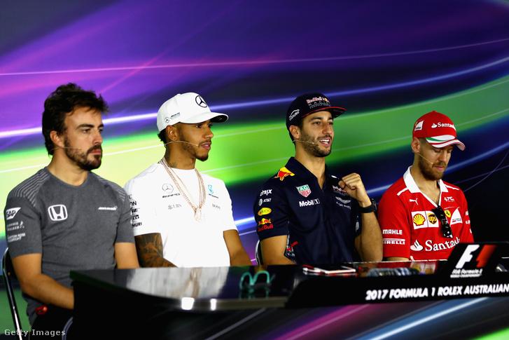 Alonso, Hamilton, Ricciardo, Vettel – az F1 tele van jobbnál jobb pilótákkal