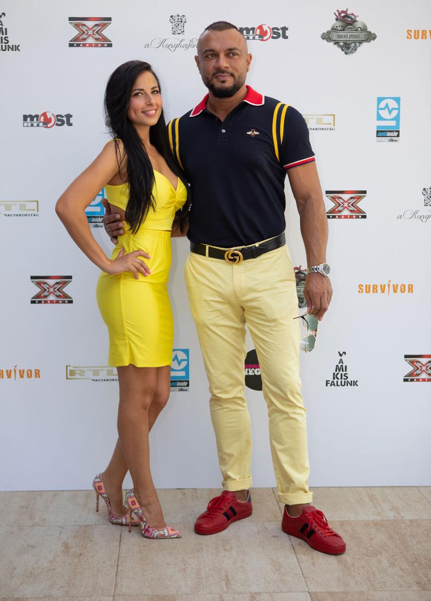 Gáspár Laci felesége, Niki az RTL Klub augusztus 14-i sajtótájékoztatójának legdögösebb sztárja volt.