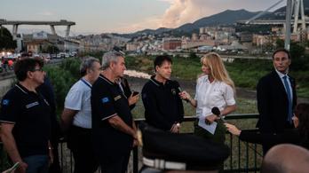 Még 10-20 ember lehet az olasz híd romjai alatt