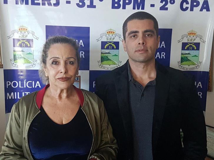 Dr. Denis Cesar Barros Furtado, jobbra, és édesanyja Maria de Fatima Barros, Rio de Janeiro rendőrség által közreadott képen, Brazília, 2018.07.19.