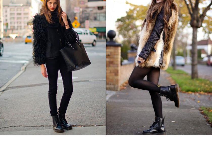 Egy csinos, műszőrmés bunda és bakancs kombinációjához akár egy szűk nadrágot vagy szoknyát is felvehetsz, nőcis lesz az összhatás!