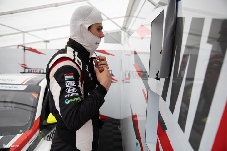 Nagy Dániel a TCR Európa-kupa hungaroringi versenyhétvégéjén