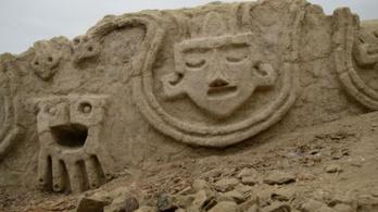 3800 éves, díszes falat találtak Peruban