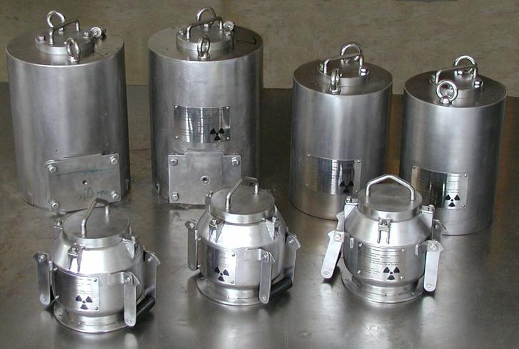 Az Izotóp kft. által használt konténerek