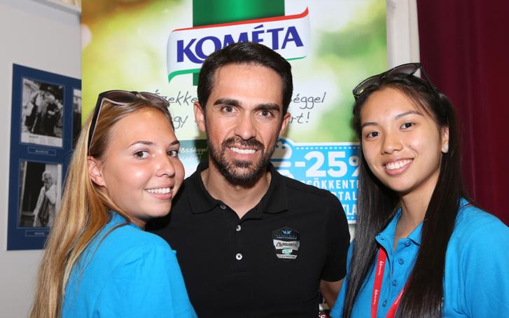 Alberto Contador a Tour de Hongrie rajtjánál
