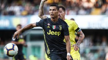 Ronaldo első meccsén a 93. percben nyert ötgólos meccset a Juventus