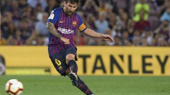 Messi átverte a sorfalat, a Barcelona hatezredik bajnoki gólját lőtte
