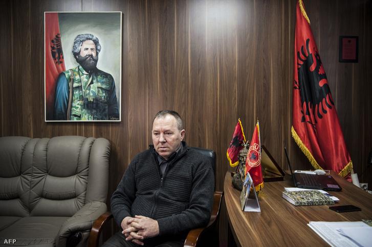 Hysni Gucati, a volt koszovói felszabadítási hadsereg (KLA) katonája és veteránszövetség vezetője