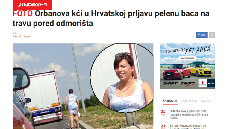Pelenka eldobásával vádolják Orbán Viktor lányát