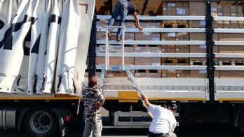 42 határsértő lapított a török kamionban