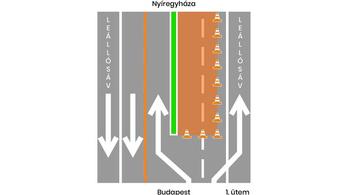 Az M3-ast is feltúrják, vánszoroghat a forgalom
