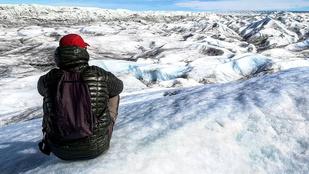 Egy magyar férfi keresztülgyalogolt Grönlandon