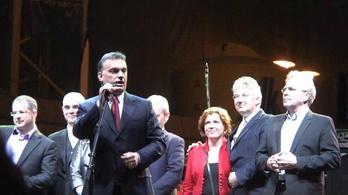 Orbán Viktor és a Fidesz vezérkara a győzelem éjszakáján
