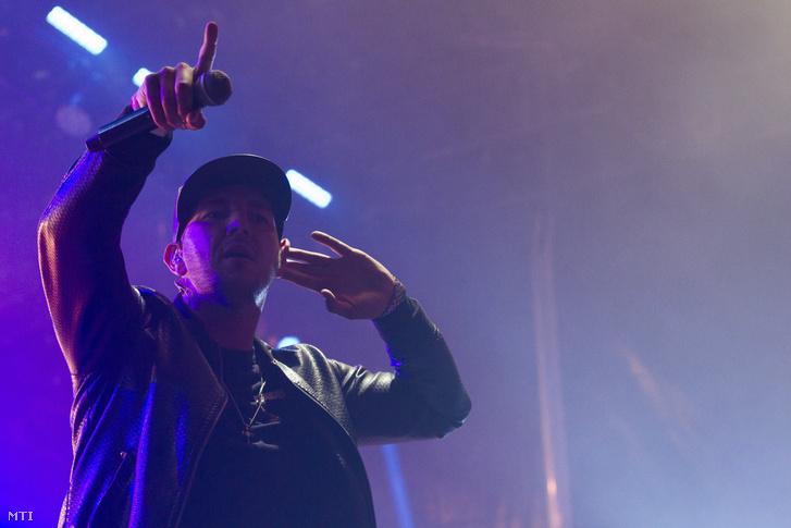 Curtis (Széki Attila) a Majka Curtis koncertjén a 26. VOLT Fesztiválon a soproni Lõvér kempingben 2018. június 30-án.