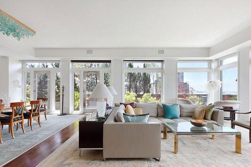 Meryl Streep Manhattanben található álomotthonát nagyon ízlésesen rendezte be. Hatalmasak a terek a lakásban.