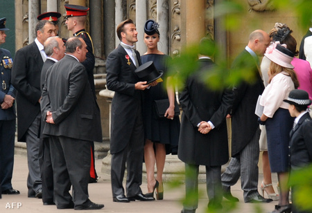 Victoria és David Beckham érkezik a Westminster apátságba