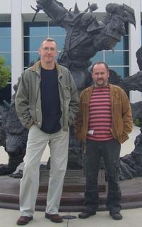 Szikszai Gábor és Boros Zoltán a Blizzard főhadiszállásán
